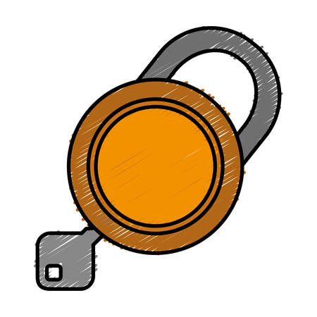 security padlock icon over white background. colorful design. vector illustration Illustration