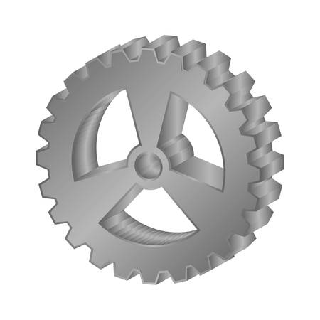 gear wheel icon over white background. vector illustration Illustration