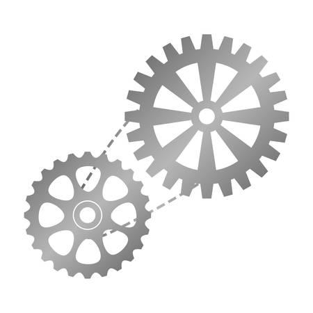 bike gears icon over white background. vector illustration Illustration