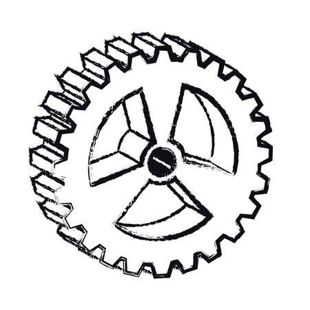 processors: bike gear icon over white background. vector illustration