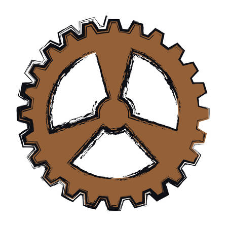 bike gear icon over white background. colorful design. vector illustration