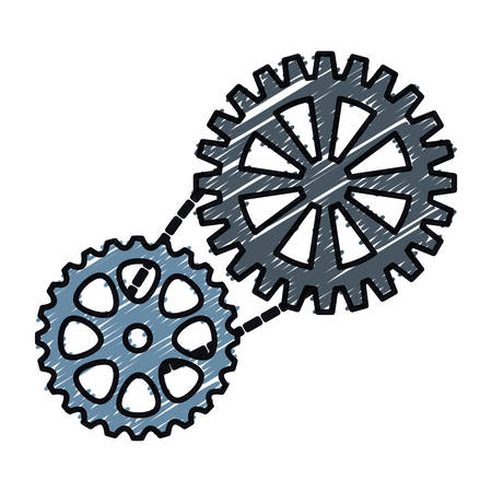 processors: bike gears icon over white background. colorful design. vector illustration