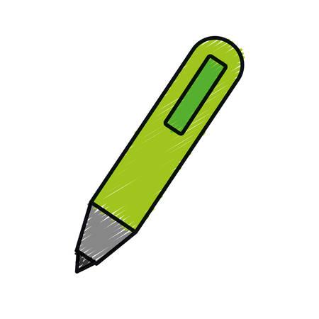 pen icon over white background. vector illustration