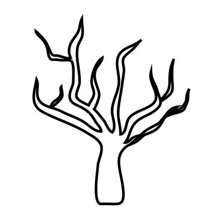dead tree: dry tree icon over white background. vector illustration Illustration