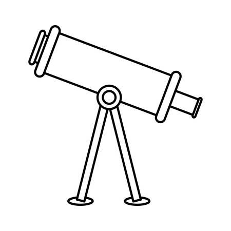 telescope icon over white background. vector illustration