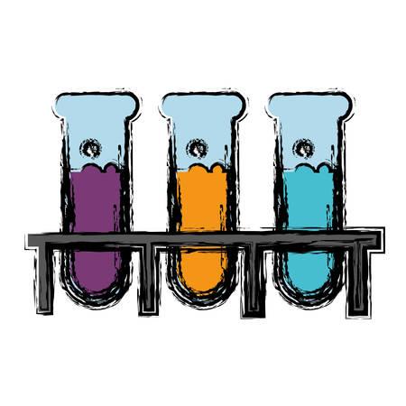 poison bottle: test tubes icon over white background. vector illustration Illustration