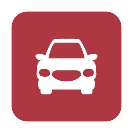 sunroof: A Button with the icon of a car, illustration Illustration