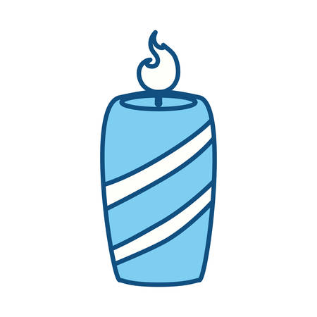 blue flame: Candle burn light icon vector illustration graphic design Illustration