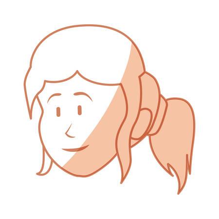 Woman cartoon face icon vector illustration graphic design