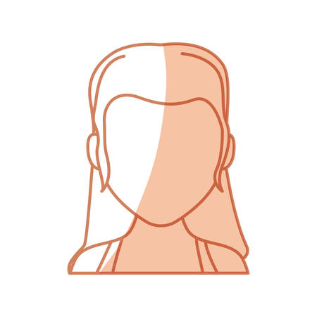 Anonymous faceless, woman icon vector illustration graphic design