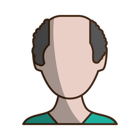Anonymous man faceless icon vector illustration graphic design Illustration