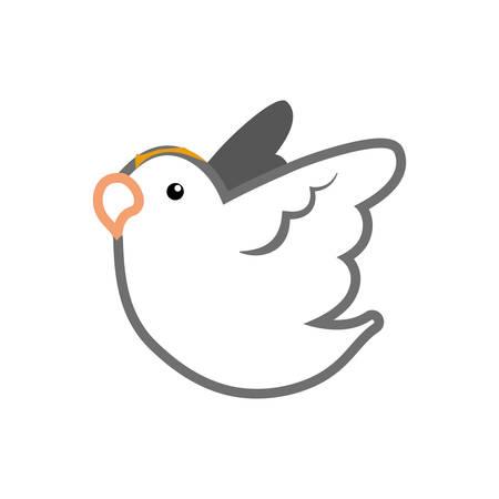 Dove bird symbol icon vector illustration graphic design Illustration