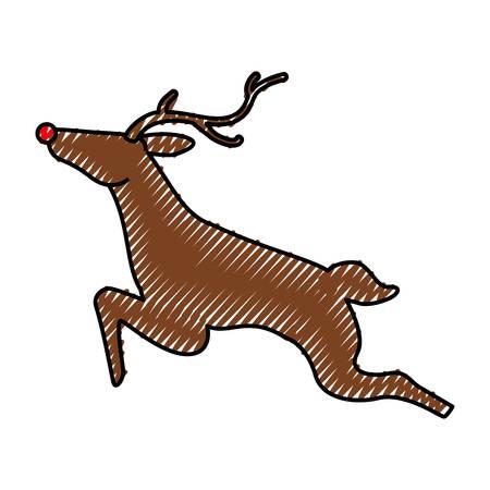 Reindeer christmas animal icon vector illustration graphic design Illustration
