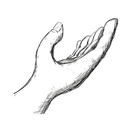 Souris à main tendue icône illustration vectorielle design graphique Banque d'images - 79268114