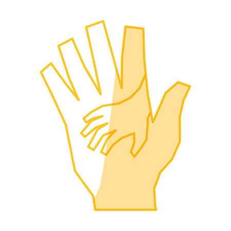 outstretched: Outstretched hand symbol icon vector illustration graphic design