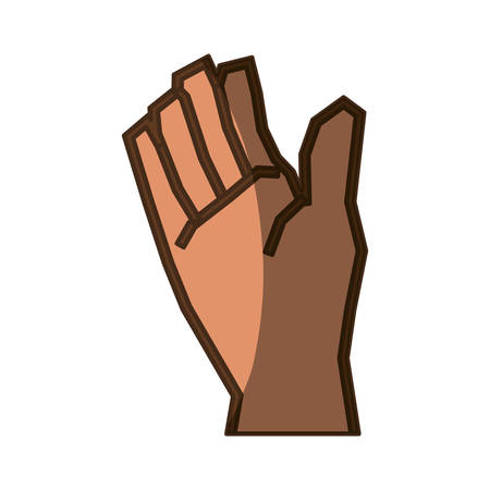 Outstretched hand symbol icon vector illustration graphic design