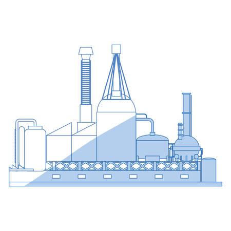 factory plant machinery icon vector illustration graphic design Illustration