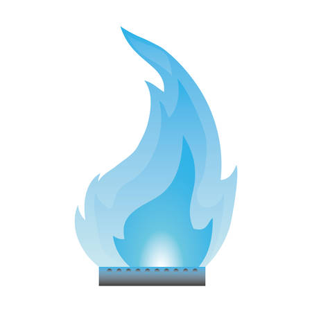blue flame: Fire burn flamme icon vector illustration graphic design