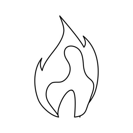 Fire burn flame icon vector illustration graphic design. Vector Illustration