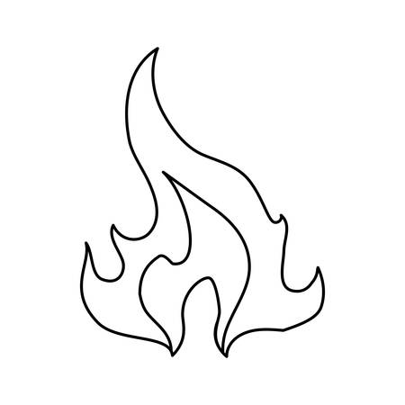 gas fireplace: Fire burn flame icon vector illustration graphic design.
