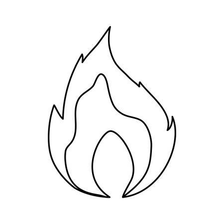 Fire burn flamed icon vector illustration graphic design Illustration
