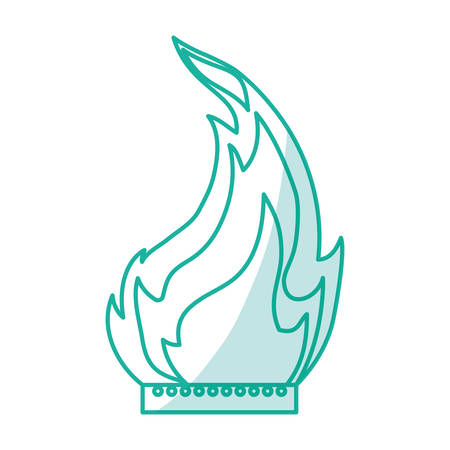 gas fireplace: Fire burn flamed icon vector illustration graphic design Illustration