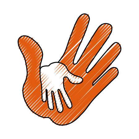 outstretched: Outstretched hand symbol icon vector illustration graphic design.