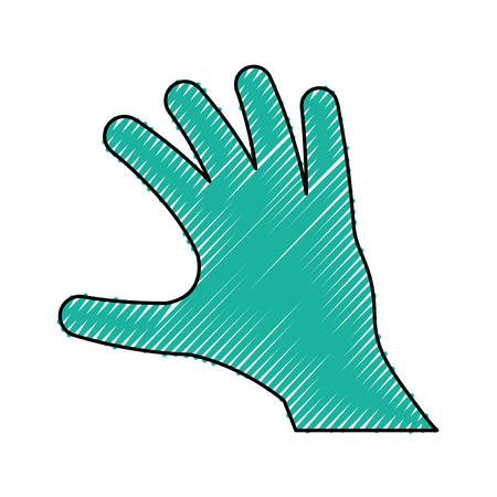 Outstretched hand symbol icon vector illustration graphic design.