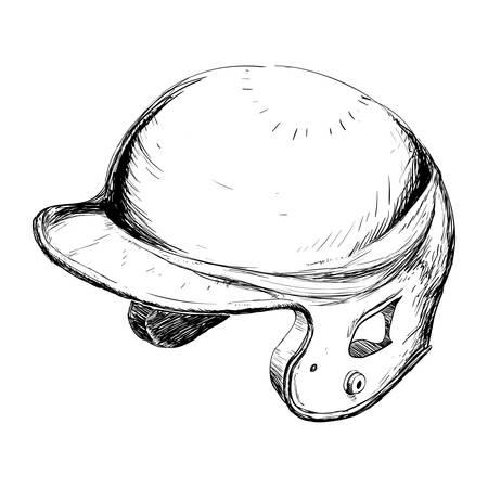 Baseball hat equipment icon vector illustration graphic design