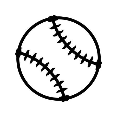 fastball: Baseball ball isolated icon vector illustration graphic design Illustration