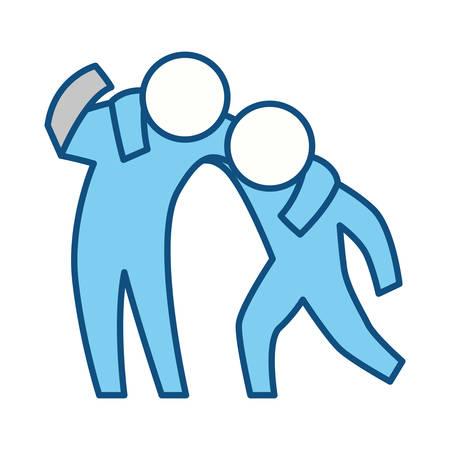 Persona che aiuta qualcuno illustrazione vettoriale icona illustrazione grafica