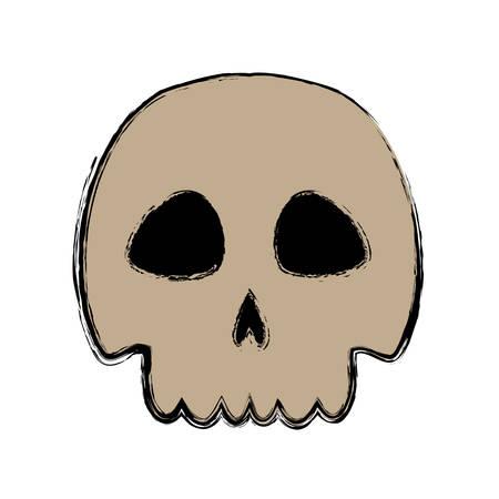 noxious: skull danger and caution alert vector illustration