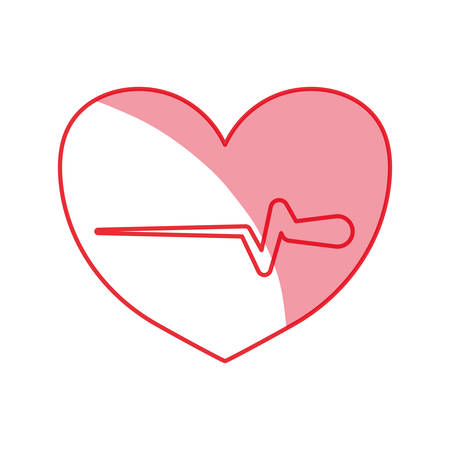 systole: silhouette heartbeat sign of cardiac rhythm frequency vector illustration