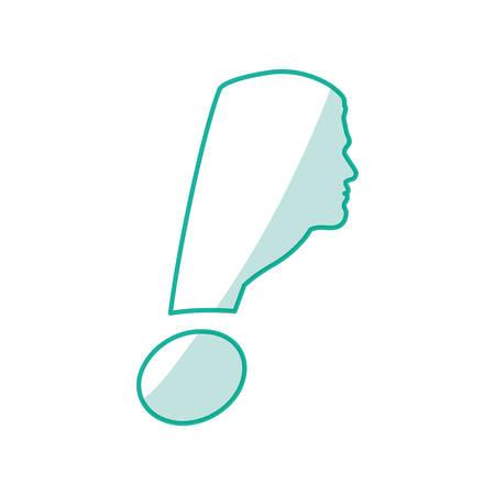 exclamation symbol alert vector illustration graphic design icon Illustration