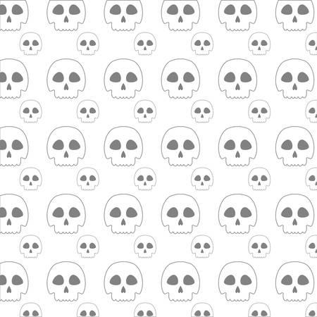 noxious: line skull danger and caution alert backgound vector illustration Illustration