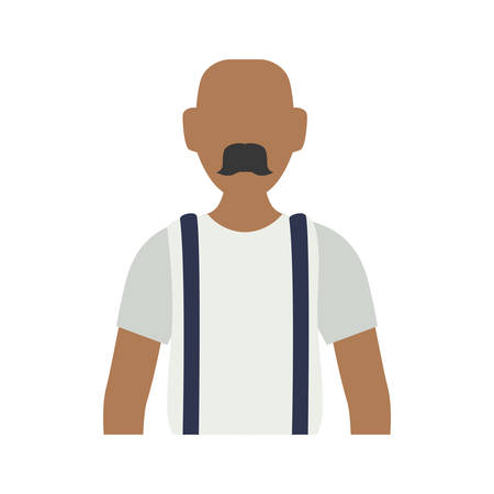 funny pictures: Man faceless avatar icon vector illustration graphic design Illustration