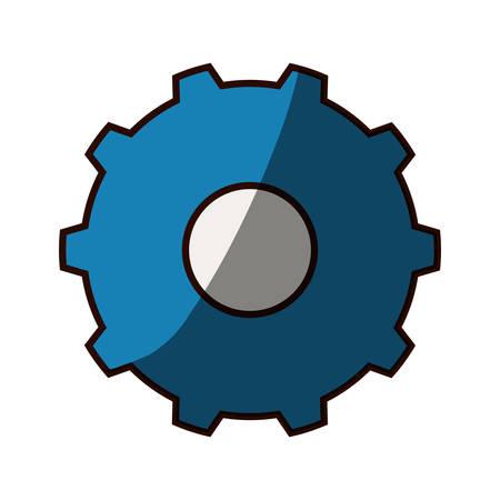gear wheel rotation vector illustration graphic design icon