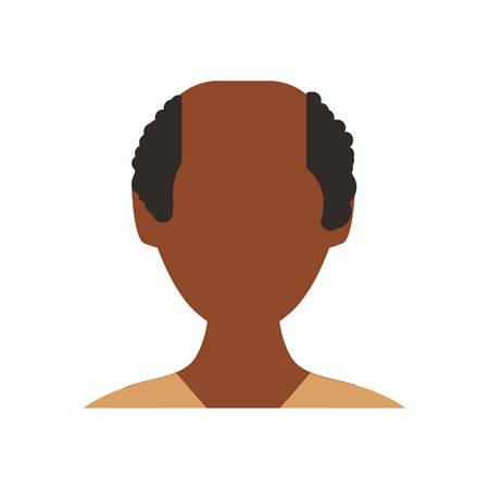 Man faceless avatar icon vector illustration graphic design Ilustrace