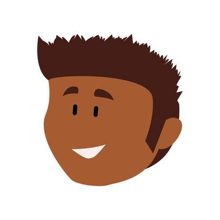 Guy face cartoon icon vector illustration graphic design Illustration