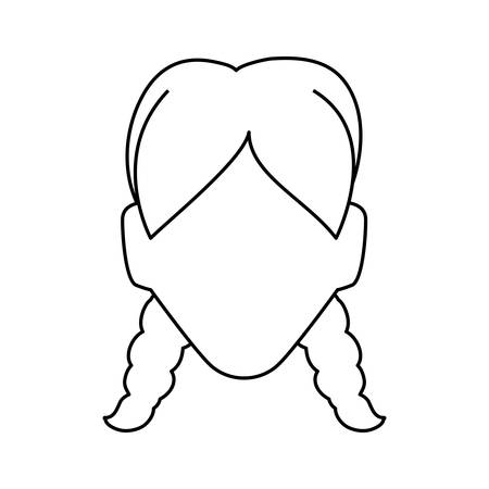 funny pictures: Anonymous faceless woman icon vector illustration graphic design Illustration