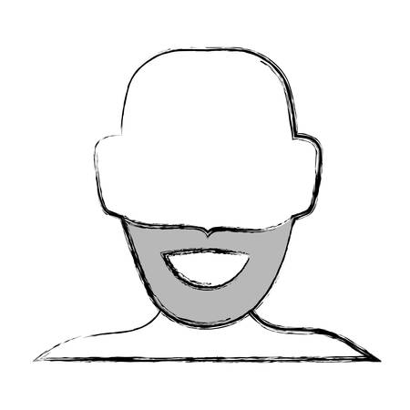 funny pictures: Man faceless avatar icon vector illustration graphic design.