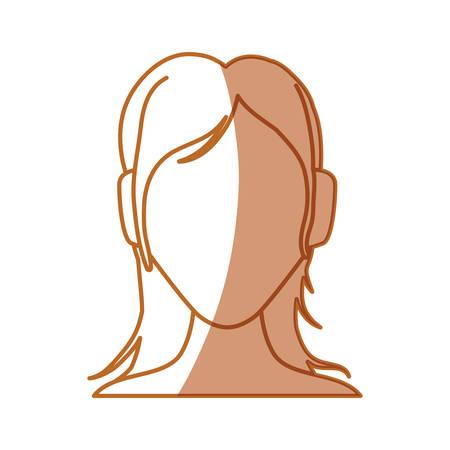 Woman faceless avatar icon vector illustration graphic design
