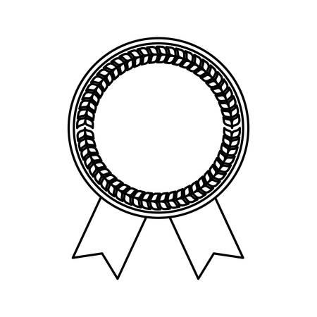 star award: blank award ribbon icon vector illustration graphic design