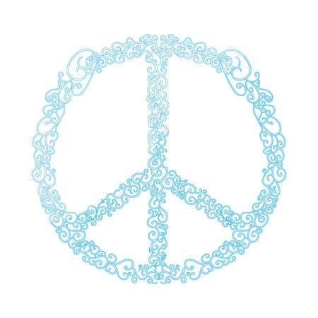 Peace and love symbol icon vector illustration  graphic  design