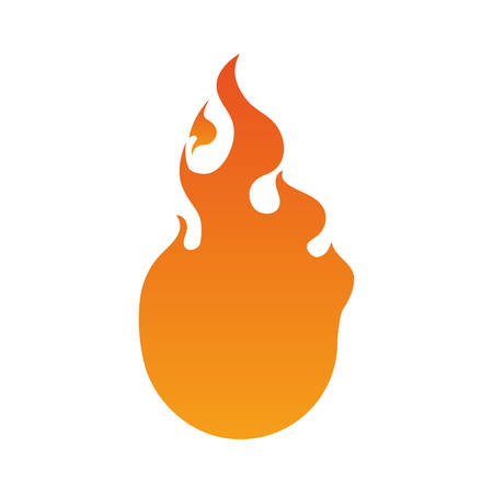gas fireplace: Fire burn flamme icon vector illustration graphic design