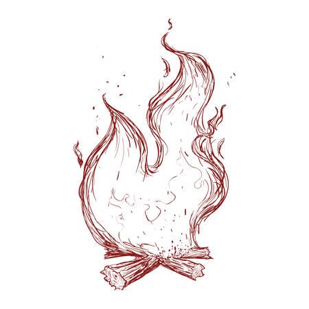 Fire burn flamme icon vector illustration graphic design Vector Illustration