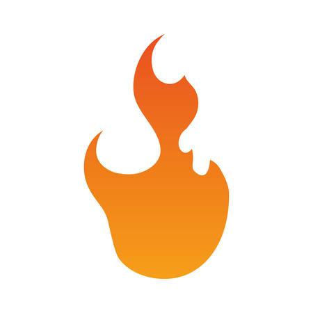 burned: Fire burn flamme icon vector illustration graphic design