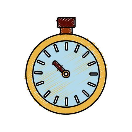 cronometro: chronometer icon over white background. vector illustration