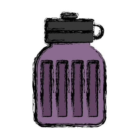 water bottle icon over white background. vector illustration