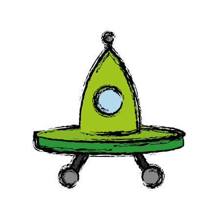 ovni spaceship icon over white background. vector illustration Ilustrace